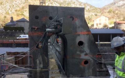 Prise d'eau Montréal à Auzat : démolition par sciage câble diamanté