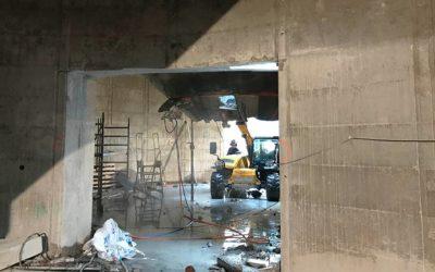 Déconstruction partielle de silos et création d'ouvertures à Bacalan (33)